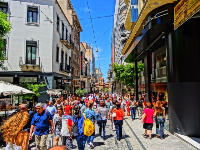 Ermou Street, shopping in Athens