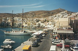 Harbor at Syros, Cyclades, Greece