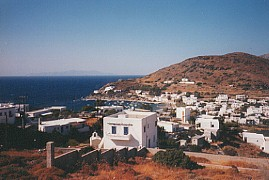 The village of Kini in Syros