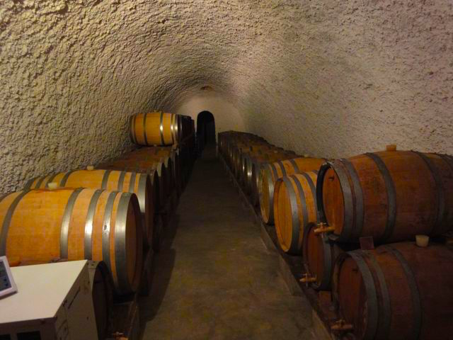 Santorini, wine barrels
