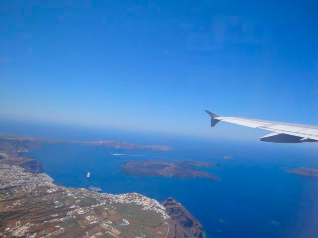 Flight to Santorini
